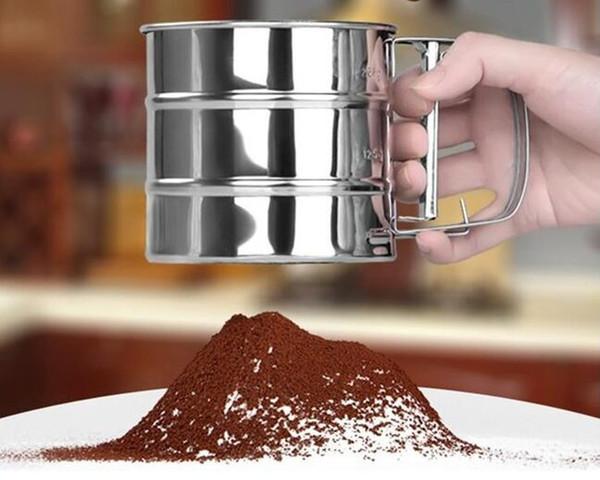 Setaccio in acciaio inox Setaccio in polvere Setaccio in rete Set di strumenti per pasticceria Accessori per la cucina Spedizione gratuita