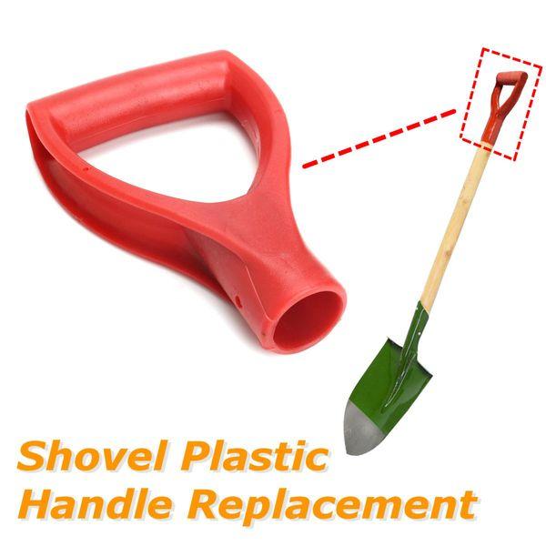 Anti Slip Handle Vermelho De Plástico Pá Garfo Pá Escavação Da Neve Lidar Com Jardim Pomar Digging Raking Ferramentas Acessórios de Substituição