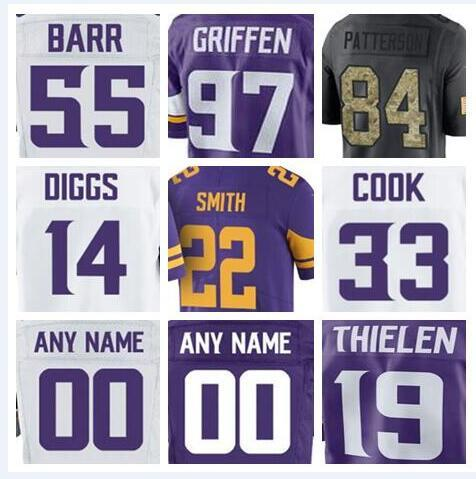quality design 7976b ddad1 2019 2018 Minnesota Stefon Diggs Vikings Jersey Custom Dalvin Cook Teddy  Bridgewater Authentic Sports Youth Kids American Football Jerseys Youth  From ...