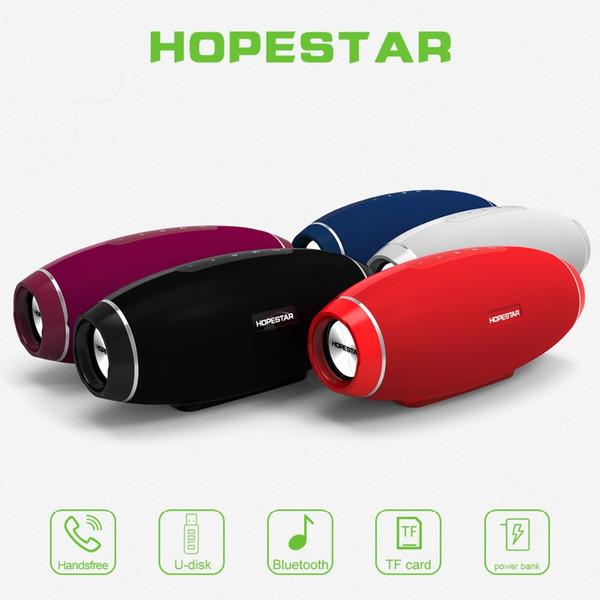 HOPESTAR H20 Rugby Bluetooth Haut-Parleur Sans Fil 3D Stéréo Étanche Subwoofer Basse Lourde Stéréo Lecteur de Musique 4400MAH Puissance Banque Fonction 5 PCS