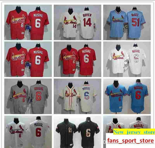 2019 Cardinals Jersey custom Men s Women Youth Majestic SL Cardinals 6 Stan  Musial 51 Willie McGee 995b9cc8f6