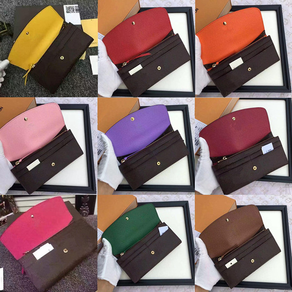 top popular free shpping Wholesale red bottoms lady long wallet multicolor designer coin purse Card holder original box women classic zipper pocket 2021