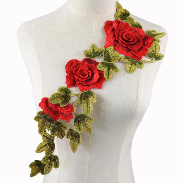 Adesivi ricamati patch per cucire fiori patch per vestiti Badge applique per tessuti cuciti NL142