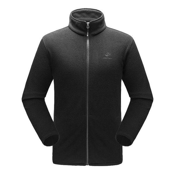 Großhandel Solide Farbe Mens Thermal Fleece Jacke Männer Full Zip Langarm Leichte Casual Bodywarmer Mantel Im Freien Polar Fleece Jacken Von Amandal,