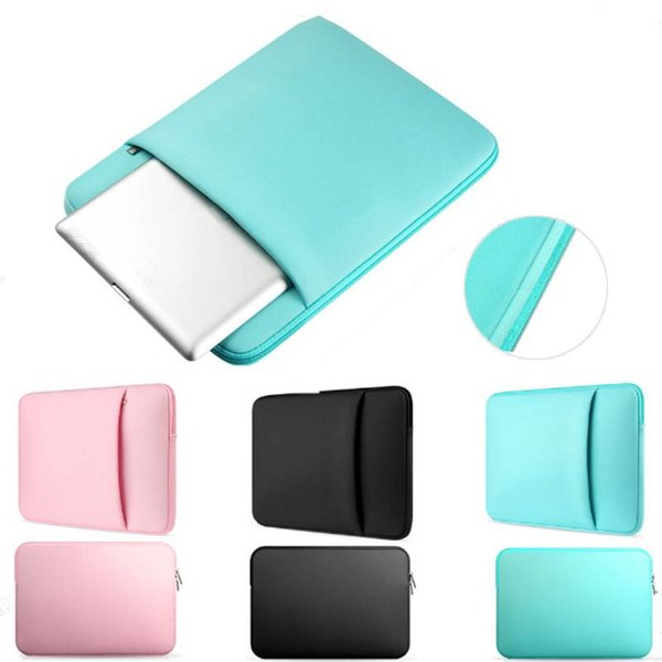 Soft Laptop Notebook Sleeve Case Bag Cover Pouch Case with Zipper For Laptop 11/13/14/15inch