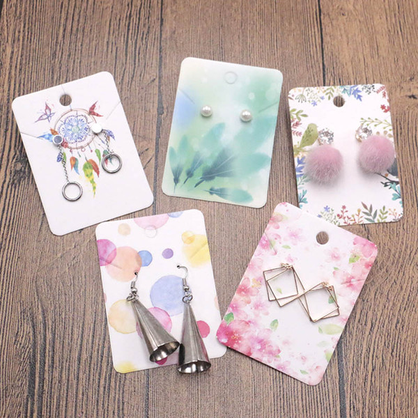 1000pcs/lot Fashion Jewelry Cards 5X7cm Earring Necklace Paper Cards for Jewelry Earring Necklace Display&Packaging Vintage Card