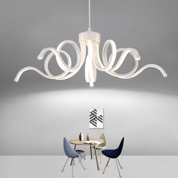 Modern Led Chandelier Bedroom Acrylic Pendant Lamp AC90-265V Suspension Lamp For Dinning Room Living Room Light Fitting Fixture