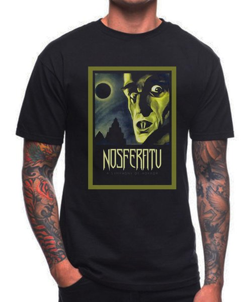 NOSFERATU T SHIRT RETRO VINTAGE GERMAN HORROR FILM MOVIE 1920'S VAMPIRE Brand Clothes Summer 2018