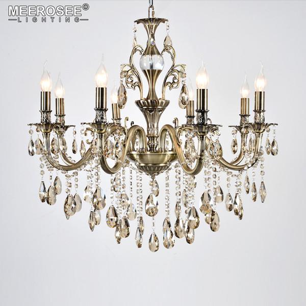 Araña de cristal de lujo luminaria buena calidad Lustres suspensión Lampara de techo comedor sala de estar iluminación