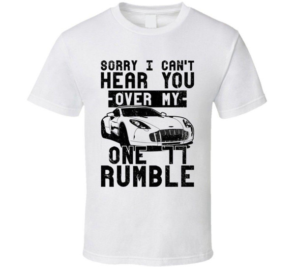 2009 Aston Martin One 77 Can't Hear You Over My Car Rumble Worn Look T Shirt Sound Activated Led T Shirt Anthony Davis Jersey