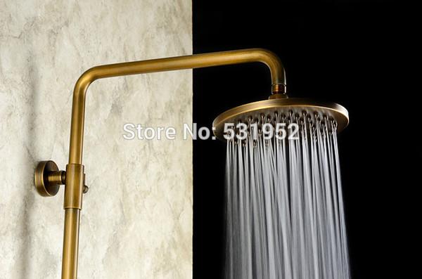 "8"" inch Round Antique Bronze Brass Rainfall Rain Bathroom Shower Head Over-head Sprayer Brand New Free Shipping"