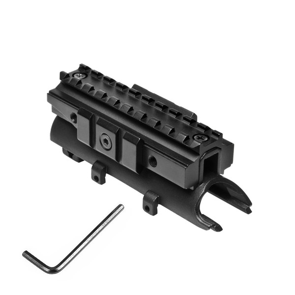 Matte Black Steel SKS Top Receiver Cover with Tri-Rail Weaver Picatinny for 20mm Scope Mount Accessory System