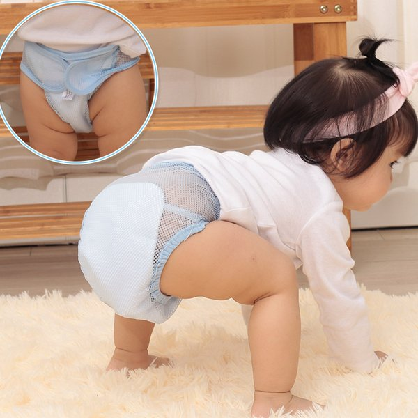 Baby Summer Nappies Mesh Breathable Pants Comfortable Washable Reuseable Infant Diaper AN88