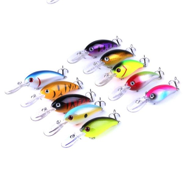 10PCS Big Crankbaits Fishing Wobblers Tackle Combo 14g 10cm Pesca Swim Crank Bait Bass Fishing Lure for Pike Perch