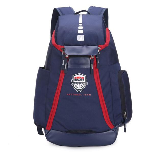Basketbol Sırt Çantaları Yeni Olimpiyat ABD Takım Paketleri Sırt Çantası adamın Çanta Büyük Kapasiteli Su Geçirmez Eğitim Seyahat Çantaları Luggages Drop Shipping