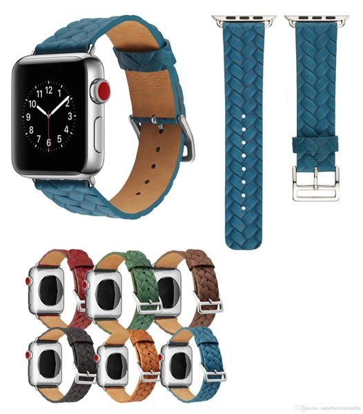 New watch strap Cowhide embossed crown strap for iWatch embossed leather strap 38mm 42mm