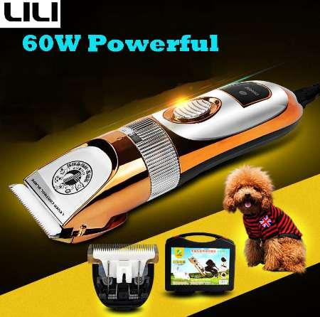 60W Professional Pet Dog Hair Trimmer Animal Grooming Clippers Cat Cutters Machine Shaver Electric Scissor Mower Clipper ZP-293