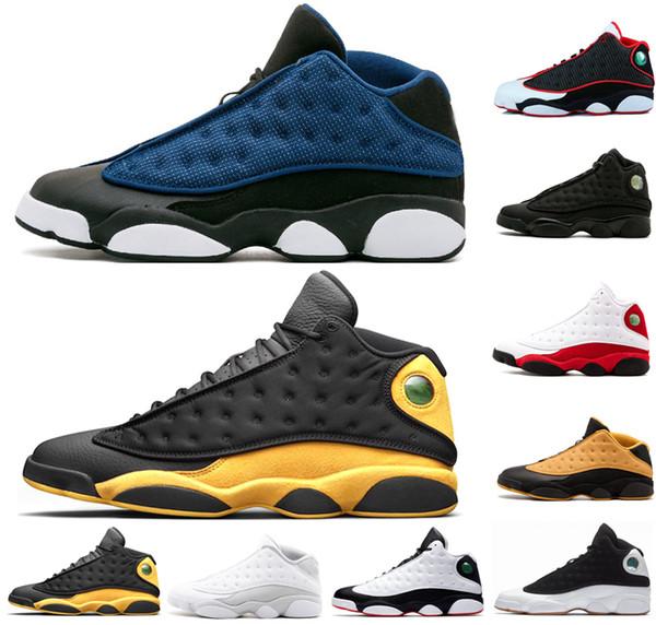 Zapatos Melo Class of 2003 de la venta caliente 13 Zapatos de baloncesto XIII 13s Men Bred Hologramas DMP Black Brown White Dimensions Zapatillas deportivas Gray US 8-13