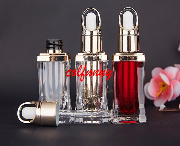 50pcs/lot Fast Shipping 10ml High-grade acrylic golden perfume/essential oil/cosmetics glass packing bottle Cosmetic Containers Customized