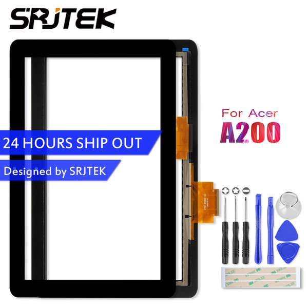 """SRJTEK 10.1"""" For Iconia Tab A200 Tablet PC Front Outter Touch Screen Panel Digitizer Sensor Glass Replacement Parts"""