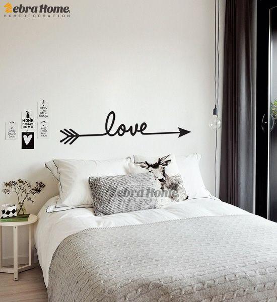 pegatinas de pared Etter bricolaje Amor Inglés de Word Letters Pegatinas de pared para salas de Decoración Arte Vinilos MURAL fondo de pantalla para bedroo vivir ...