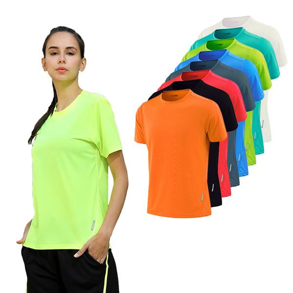 Women Dry Quick Short Sleeve Slim Sport T Shirt Gym Jerseys Fitness Shirt Trainer Running T-shirts Breathable Exercises Yoga