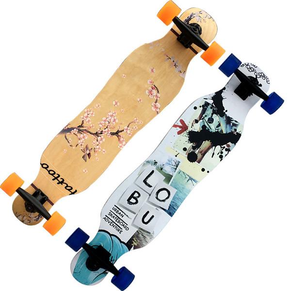 Maple Skateboard Long Board Dancing Skateboard Double Rocker 4 ruedas de cuatro ruedas para niños y niñas para todos los niños adultos