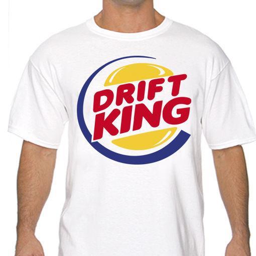 Drift King Jdm Drifting T Shirt Bianco o Grigio s a 3XL Per Uomo Hipster O-Collo Causale Cool Top O-Neck Tee Shirt