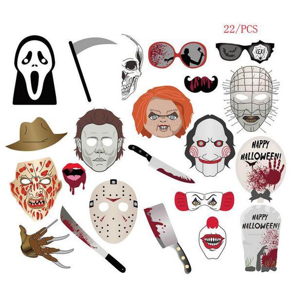 HOT Halloween Decoration Prop Photo Props 22pcs 59pcs 62pcs Scary stuff party photo Decoration Free shipping