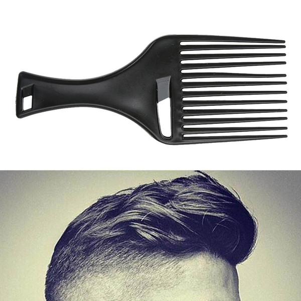 1 Adet Afro Saç Tarak Saç Çatal Tarak Takın Kuaförlük Kıvırcık Fırça Saç Şekillendirici Aracı Erkekler Kadınlar için Siyah