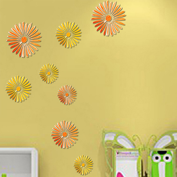 Chic Home Decor 3d Flower Removable Wall Sticker Room Decals ...