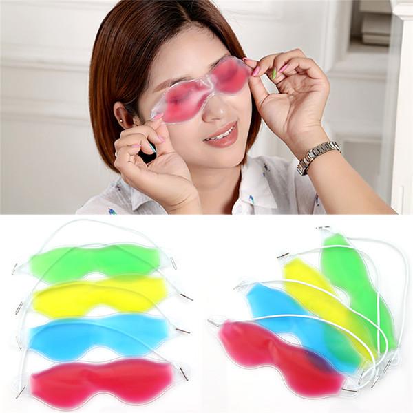 Buz Göz Maskesi Gölgelendirme Yaz Buz Gözlüğü Rahatlatmak Rahatlatmak Koyu Halkalar Kaldırmak Göz Jel Buz Paketi Uyku Maskeleri CCA8670 5000 adet