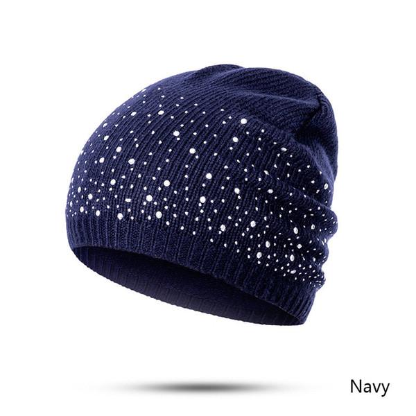 2018 New Winter Hats Unisex Women's Cotton Solid Warm Hot Sale HIP HOP Knitted Hat Female For Men Women Caps Skullies Beanies Y18102210
