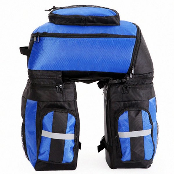 3 In 1 Bike Bag Rear Backpack 65L MTB Bicycle Bag Rucksack Cycle Cycling Seat Bycicle Accessories With Waterproof Cover