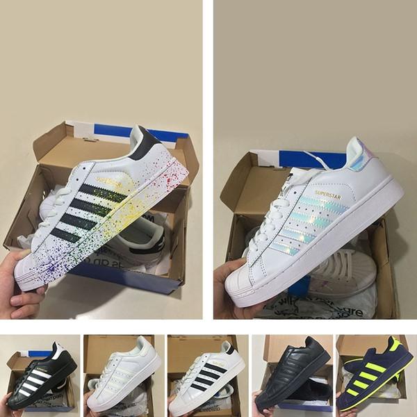 Acheter authentique Adidas Originals Sneakers cuir blanc