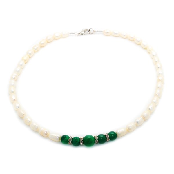2018 Natural freshwater pearl necklace AA class (with thread) elliptical pearl necklace surprise gift for mother