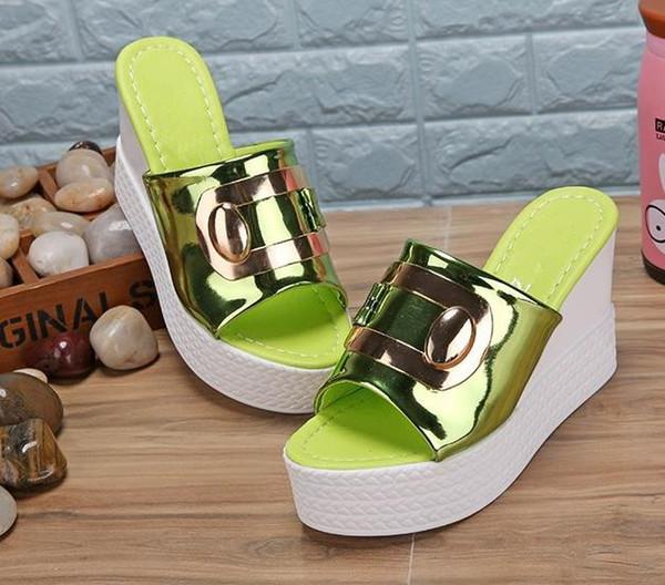 Girls Diamond Slides Sandals Women Slides Summer 2018 Slippers Sandals Wedges Women Shoes Mujer Sapato Feminino Flip Flops