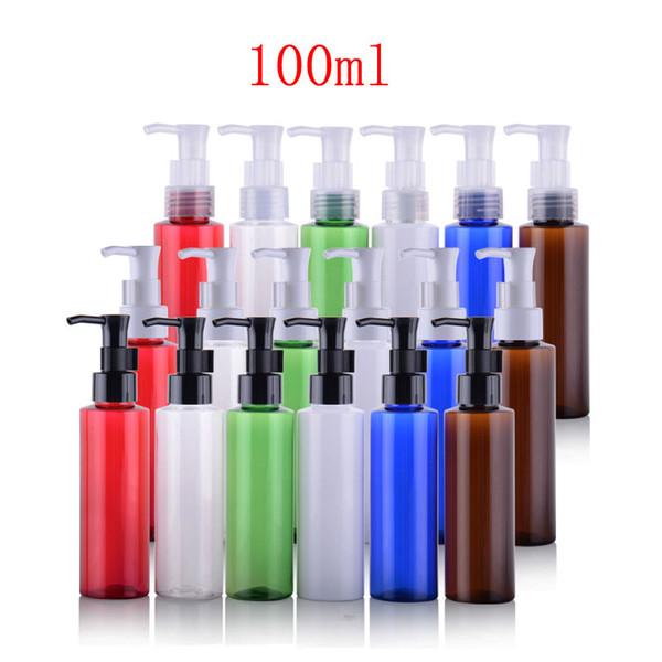 100ml X 50 empty perfume oil pump cosmetic bottle,dispenser PET plastic container, 100g liquid soap lotion pump bottle package