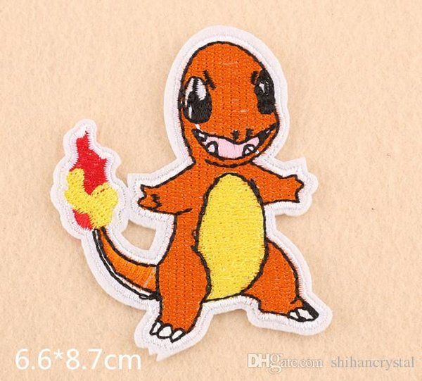 Fire Dragon embroidered patches for sewing Bag clothing patches iron on sewing accessories applique
