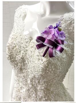 purple corsages