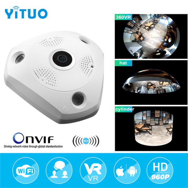 HD 960P Wifi VR Panoramic Camera 360 Degree CCTV Security Video Surveillance Home IP Camera Baby Monitor Night Vision YITUO