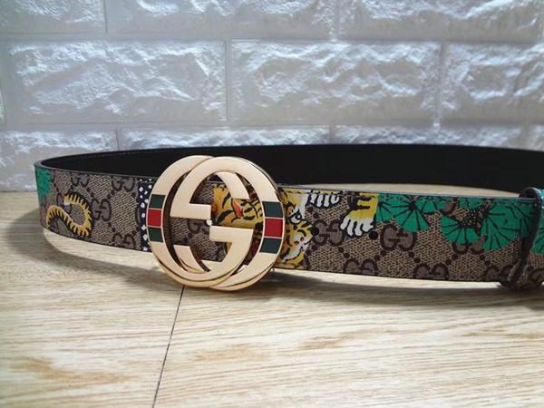 yy314 / Hot Luxury High Quality ceinture Designer Belts Fashion Tiger animal pattern buckle belt mens womens belt for gift Free shipping