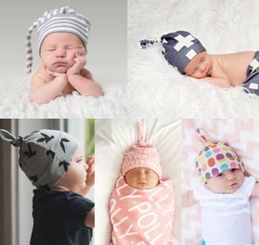 Babys cotton hat winter earflap kids hat newborn photography props baby hats New era cap Lovely shape hair accessories