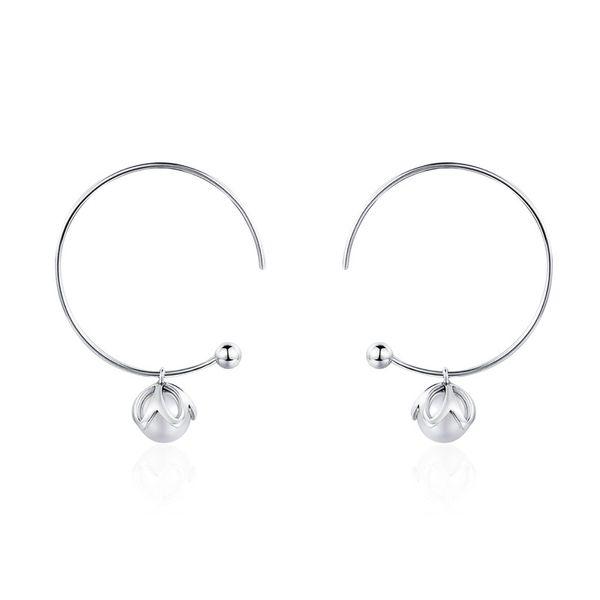 100% Gerçek 925 Ayar Gümüş Romantik Bud Aşk İmitasyon İnci Damla Küpe Kadınlar için Moda Trendy Takı Hediye SCE078