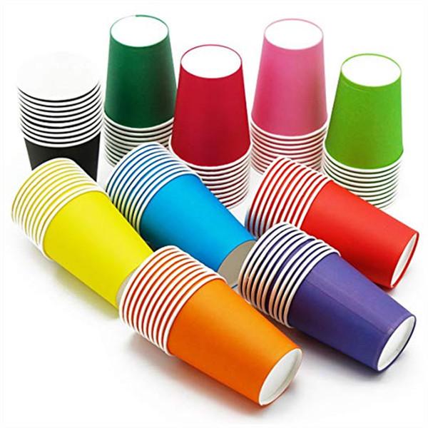 Tazze usa e getta da 8 once, Tazza di carta da tè per decorazioni fai da te, Tazze di caffè usa e getta, Tazze da picnic per bambini