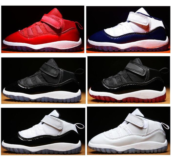 Baby 11s Gym Red Midnight Navy Bred Concord Infant Basketball Shoes 11 Space Jam Children Boy Girl Sneakers Toddlers Gift