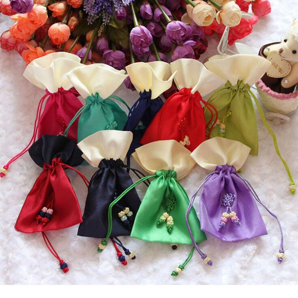 Korean Sachet Bag Wedding Gift Bags Drawstring Candy Gift Bag Jewelry Pouches 10*15cm Free Shipping ZA6134