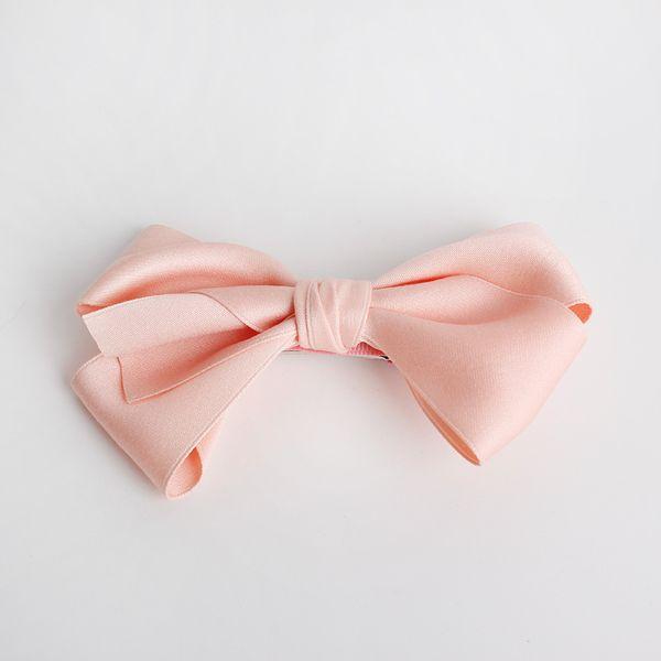 24pcs Lot Big Size Bows Hair Clips Peach Pink Hairpins Kids Handmade Girls Top Quality Ribbon Cotton Barrettes Bowknot