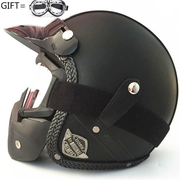 Motorcycle Helmet 3 4 Open Face Helmet Retro Capacete Motocross Casque Moto Vintage Casco Moto Voss 058 Helmets Motorcycles Hjc Motorcycle Helmets