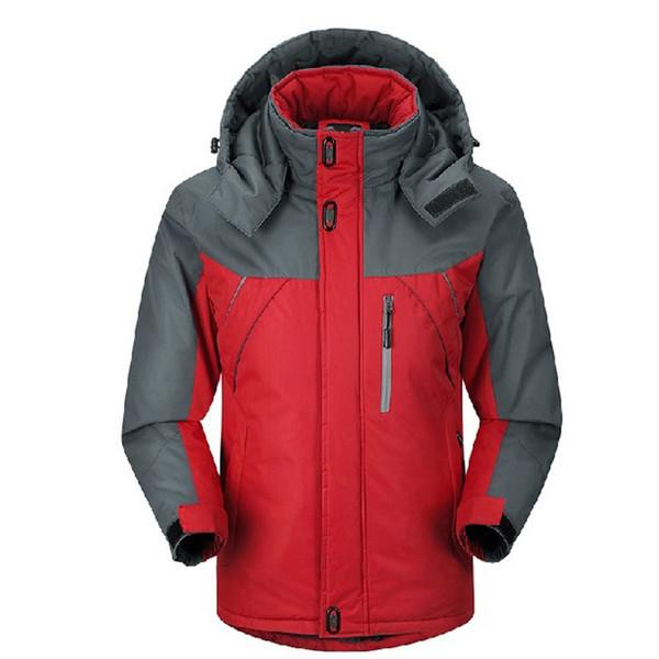 Winter Down Jacket hombres Parkas termal chaqueta de terciopelo escudo Outwear hombres chaquetas rompevientos jaqueta a prueba de viento capa impermeable hombres